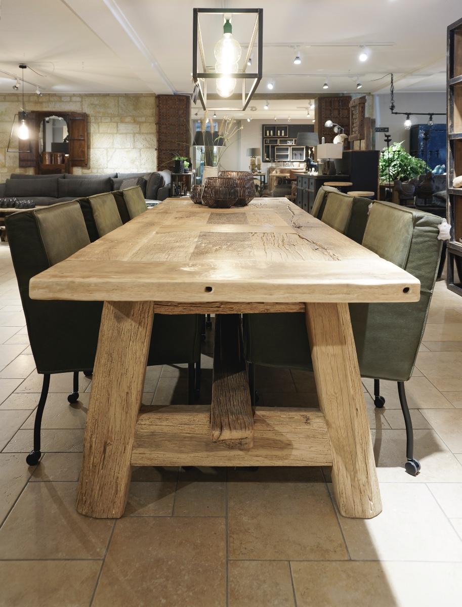 Eettafel Oude Eiken Spanten Tables Looiershuis