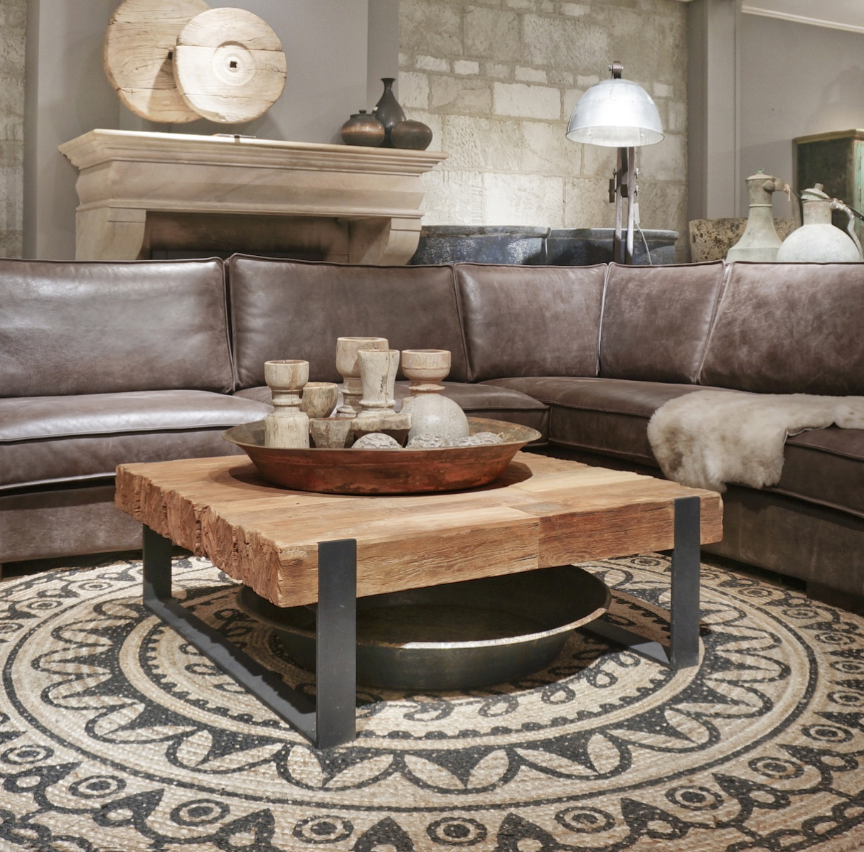 salontafel bigboy 100 x 100 kleinmeubelen collectie looiershuis. Black Bedroom Furniture Sets. Home Design Ideas