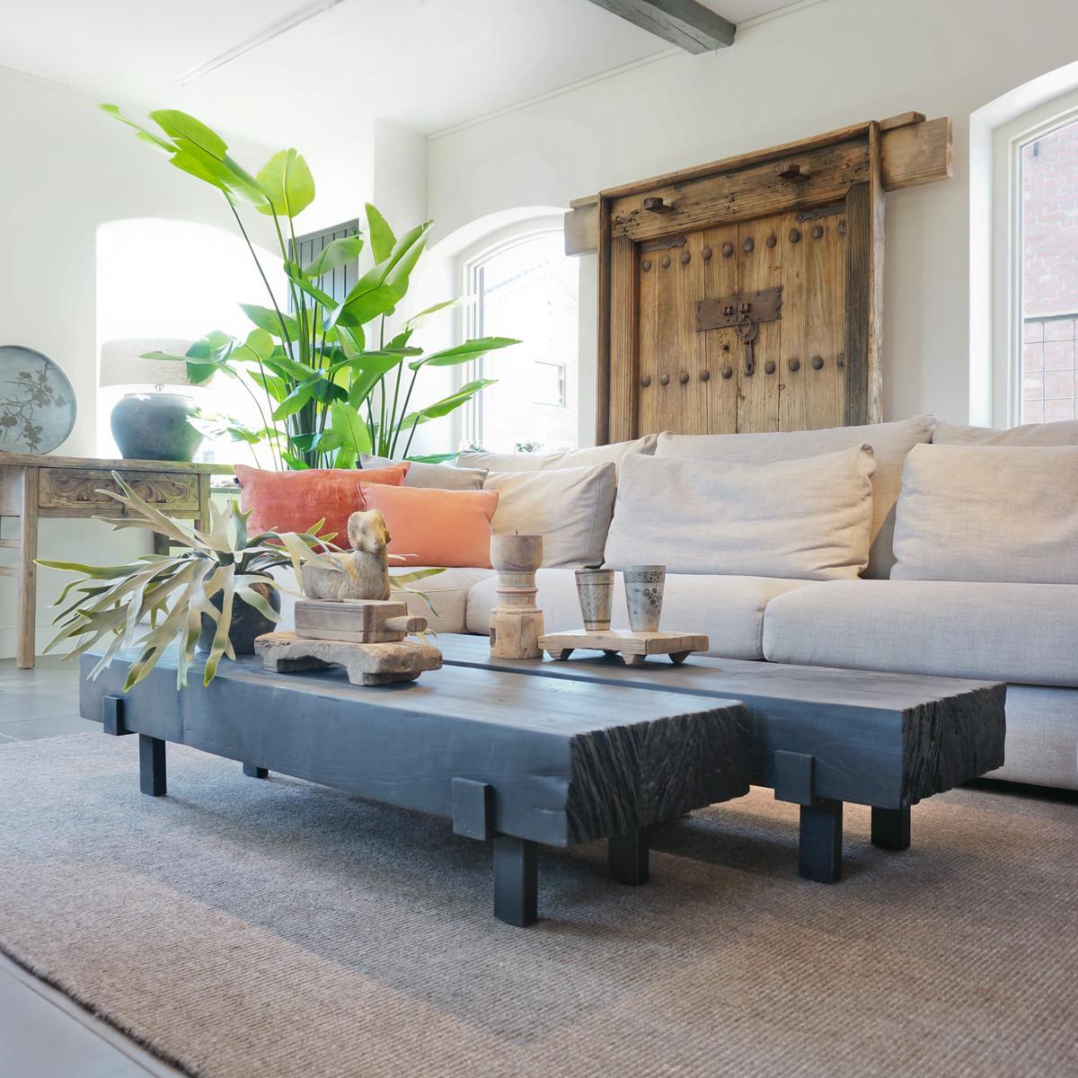 Salontafel Robuust Teak Black Small Furniture Looiershuis